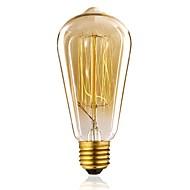 1pc 40W E27 E26/E27 ST64 Varm hvid 2300 K Glødende Vintage Edison lyspære 110-130V 220V-240V V