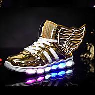 tanie Obuwie chłopięce-Dla chłopców Obuwie Skóra patentowa / Materiał do wyboru / Derma Wiosna / Zima Wygoda / Świecące buty Tenisówki Szurowane / LED na Złoty / Czarny / Czerwony