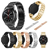 billiga Smart klocka Tillbehör-Klockarmband för Gear S3 Classic Samsung Galaxy Sportband Metall Handledsrem