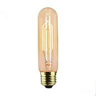 billige Glødelampe-1pc 40 W E14 / E26 / E27 T10 Varm hvit 2300 k Kontor / Bedrift / Dekorativ Glødende Vintage Edison lyspære 220-240 V / 110-130 V