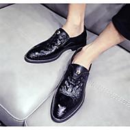 Homens sapatos Micofibra Sintética PU Primavera Outono Conforto Mocassins e Slip-Ons para Casual Preto Amarelo