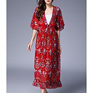 女性用 ストリートファッション シース ドレス - プリント, フラワー マキシ