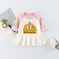 Dijete Djevojka je Print Dnevno Proljeće Ljeto Dugih rukava Haljina Ležerne prilike Aktivan Blushing Pink Navy Plava Bijela