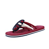 cheap Men's Slippers & Flip-Flops-Men's Shoes PU Leather Summer Light Soles Slippers & Flip-Flops for Casual Black Red