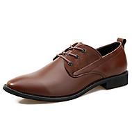 baratos Sapatos Masculinos-Homens Sapatos de vestir Pele Napa / Couro Ecológico Primavera / Verão Conforto Oxfords Caminhada Preto / Marron