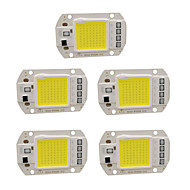 billige belysning Tilbehør-5pcs 220 V Input Smart IC / for DIY LED Flood Light Spotlight Led Brikke Aluminium 50 W