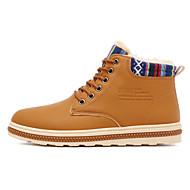 お買い得  特別セール-靴 ラバー 冬 秋 コンフォートシューズ ブーツ のために アウトドア ブラック Brown ブルー カーキ色
