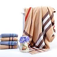 baratos Conjunto de Toalhas de Banho-Qualidade superior Toalha de Banho / Conjunto de Toalhas de Banho, Xadrez / Quadrados 100% algodão Banheiro 2 pcs