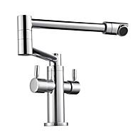 Kitchen faucet - Two Handles One Hole Chrome Standard Spout Vessel Contemporary Kitchen Taps
