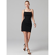 cheap Bandage Dresses-Sheath / Column Spaghetti Straps Short / Mini Stretch Satin Cocktail Party Dress with Bandage by TS Couture®
