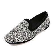 Χαμηλού Κόστους Prom Shoes-Γυναικεία Παπούτσια PU Άνοιξη / Καλοκαίρι Ανατομικό / Βασική Γόβα Τακούνια Επίπεδο Τακούνι Μυτερή Μύτη Μαύρο / Ασημί / Φόρεμα