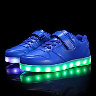 baratos Sapatos de Menino-Para Meninos / Para Meninas Sapatos Courino Primavera Conforto / Tênis com LED Tênis Caminhada Cadarço / Colchete / LED para Vermelho /