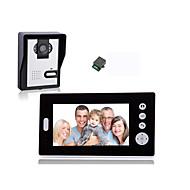 billige Dørtelefonssystem med video-KONX KX7001 Trådløs 2.4Ghz Batteri Kamera Innebygd Ut-høytaler 7 tommer (ca. 18cm) Håndfri 640*480 En Til En Video Dørtelefon