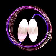 BRELONG® 1 paire Lacets lumineux Bouton alimenté par batterie Nouveauté créative Décoration