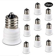 billige belysning Tilbehør-10pcs E12 til E14 Lysstikkontakt Aluminium Plast Bulb Accessory