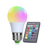 cheap LED Bulbs-1pc 3W 250lm E26 / E27 LED Smart Bulbs 10 LED Beads SMD 5050 Infrared Sensor Dimmable Decorative Remote-Controlled RGBW 85-265V