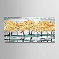 billiga Oljemålningar-Hang målad oljemålning HANDMÅLAD - Abstrakt Landskap Moderna Duk