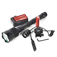 halpa -LED taskulamput LED 6000lm 1 lighting mode Telttailu / Retkely / Luolailu / Pyöräily Musta