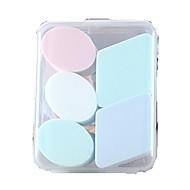 5 pçs Esponja de Pó de Arroz/Esponja de Maquiagem Esponja Elipse Quadrada Rosto Nenhum Maquiagem para o Dia A Dia