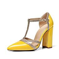 abordables Talons pour Femme-Femme Chaussures Cuir Verni / Similicuir Printemps / Eté Nouveauté / D'Orsay & Deux Pièces Chaussures à Talons Talon Bottier Bout pointu