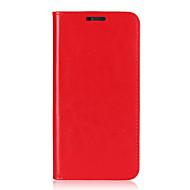 billiga Mobil cases & Skärmskydd-fodral Till LG G6 Korthållare med stativ Lucka Fodral Ensfärgat Hårt Äkta Läder för LG G6