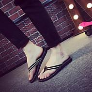 tanie Obuwie męskie-Męskie Komfortowe buty Materiał Lato Klapki i japonki Czarny / Żółty / Czerwony