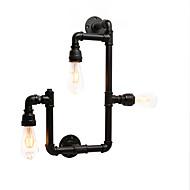 billige Vegglamper-vintage industrielle rør vegg lys svart kreative lys restaurant kafé bar vegg sconces 3-lys malt finish