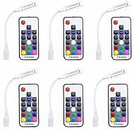billige belysning Tilbehør-6pcs Strip Light Tilbehør RGB-kontroller Plast