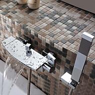 お買い得  割引蛇口-浴槽用水栓 - コンテンポラリー クロム バスタブとシャワー セラミックバルブ