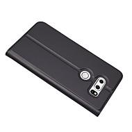 billiga Mobil cases & Skärmskydd-fodral Till LG V30 Korthållare med stativ Fodral Ensfärgat Hårt PU läder för LG V30
