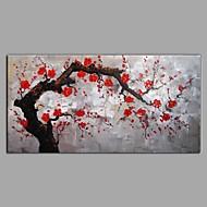 billiga Landskapsmålningar-Hang målad oljemålning HANDMÅLAD - Landskap Blommig / Botanisk Samtida Moderna Duk