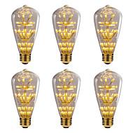 billige Globepærer med LED-BRELONG® 6pcs 3W 300 lm E26/E27 LED-globepærer 47 leds SMD Stjernefull Dekorativ Gul 220V-240V