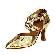 billige Moderne sko-Dame Moderne sko Fuskelær Sandaler / Høye hæler Kustomisert hæl Kan spesialtilpasses Dansesko Gull / Profesjonell