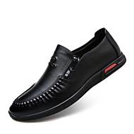 Muškarci Cipele Lakirana koža Proljeće Jesen Udobne cipele Natikače i mokasinke za Kauzalni Ured i karijera Crn Braon Plava