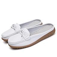 preiswerte -Damen Schuhe Leder Frühling Sommer Komfort Loafers & Slip-Ons Flacher Absatz für Sportlich Normal Büro & Karriere Party & Festivität Kleid