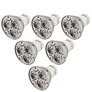 billige Spotlys med LED-YouOKLight 6pcs 3W 240lm GU10 LED-spotpærer 3 LED perler Høyeffekts-LED Dekorativ Varm hvit Kjølig hvit 85-265V