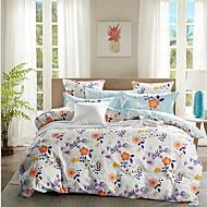 tanie Floral Duvet Okładki-Zestawy kołdra okładka Kwiaty 4 elementy Poly / Cotton 100% bawełna Reactive Drukuj Poly / Cotton 100% bawełna 1szt kołdrę 2szt Shams