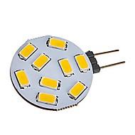 baratos Luzes LED de Dois Pinos-1pç 2W 180lm G4 Luminárias de LED  Duplo-Pin T 9 Contas LED SMD 5730 Branco Quente Branco Frio 12-24V