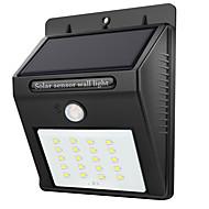 billige Utendørs Lampeskjermer-1pc 2 W LED Solcellebelysning Vanntett / Infrarød sensor / Lysstyring Hvit 3.7 V Utendørsbelysning 20 LED perler