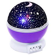 billiga Belysning-brelong 1 pc usb projektion sky ljus ljusrosa / blå / lila