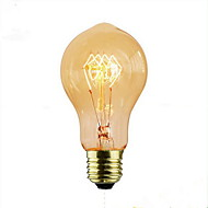 billige Glødelampe-1pc 60 W E26 / E27 A60(A19) Varm hvit 2300 k Kontor / Bedrift / Dekorativ Glødende Vintage Edison lyspære 220-240 V