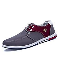 tanie Obuwie męskie-Męskie Komfortowe buty PU Wiosna / Jesień Oksfordki Kolorowy blok Czarny / Szary / Niebieski