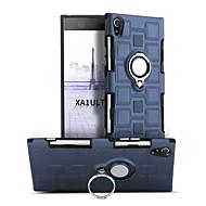 billiga Mobil cases & Skärmskydd-fodral Till Sony Xperia XA1 Ultra Stötsäker Ringhållare 360-graders rotation Skal Ensfärgat Hårt PC för Sony Xperia XA1 Ultra