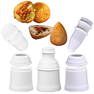 billige Bakeredskap-Bakeware verktøy Plast Multifunksjonell / 3D / Kreativ Dagligdags Brug / Multifunktion / For kjøkkenutstyr Rund Holder / Bake & Mørdeigs Verktøy 1pc