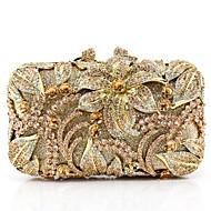baratos Clutches & Bolsas de Noite-Mulheres Bolsas vidro Bolsa de Festa 5 Pcs Purse Set Laço(s) Dourado / Preto