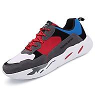 baratos Sapatos Masculinos-Homens Solas Claras TPU Primavera / Verão Conforto Tênis Corrida / Fitness / Tênisq Bege / Vermelho / Branco / Preto