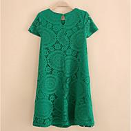Žene Veći konfekcijski brojevi Swing kroj Haljina Jednobojni Iznad koljena