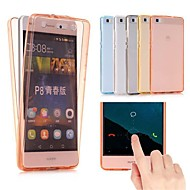 billiga Mobil cases & Skärmskydd-fodral Till Huawei P10 Lite P10 Plus Ultratunt Genomskinlig Fodral Enfärgad Mjukt TPU för P10 Plus P10 Lite P10 P9 lite mini Huawei P9