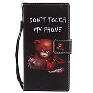 billiga Mobil cases & Skärmskydd-fodral Till Sony Xperia XZ1 Compact Xperia XZ1 Korthållare Plånbok med stativ Lucka Magnet Fodral Djur Hårt PU läder för Xperia XZ1