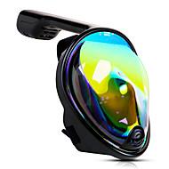 Dalış Maskeleri Şnorkel Maskesi Tam Yüz Maskeleri Sualtı UV-400 Koruma Tek Pencere - Yüzme Dalış Şnorkelcilik Silika Jel - için Yetişkinler Siyah / 180 Derece